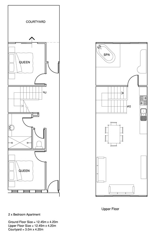 2 Bedrooms Self Contained Spa Apartment Prideaus Of